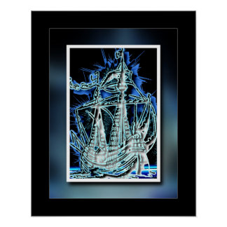 17th Century Ghost Ship Poster