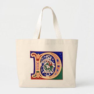 17th Century Letter D Large Tote Bag