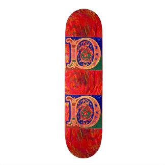 17th Century Letter D Skateboard