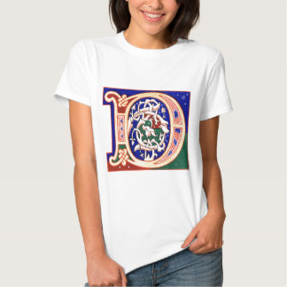 17th Century Letter D Tee Shirt