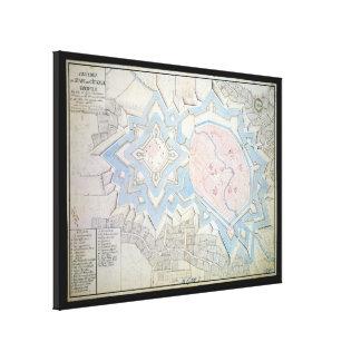 17th Century Map of Coesfeld Ludgerusburg Germany Canvas Print