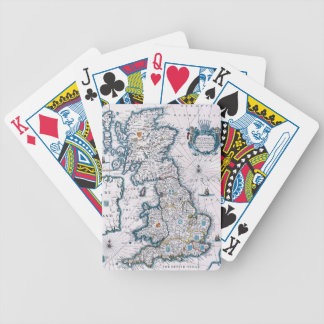 17th Century Map Of Great Britain Bicycle Card Deck