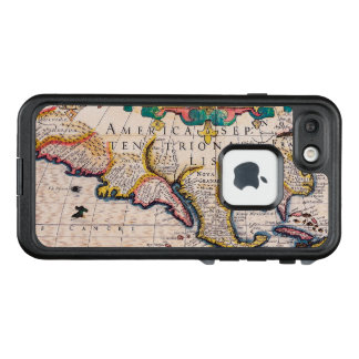 17th Century Map of North America LifeProof FRĒ iPhone 7 Case