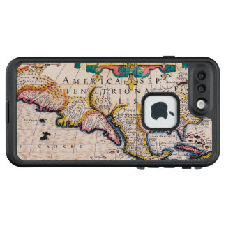 17th Century Map of North America LifeProof FRĒ iPhone 7 Plus Case