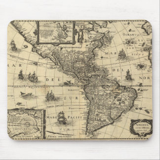 17th-century map of the Americas Mouse Pad