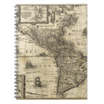 17th-century map of the Americas Spiral Note Book