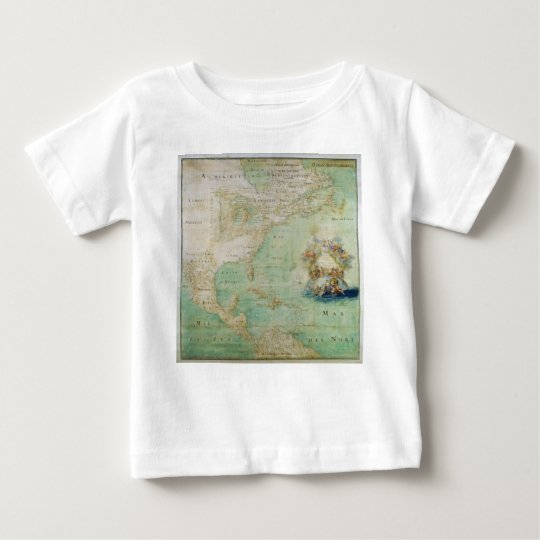17th Century Map the Americas By Claude Bernou Baby T-Shirt