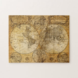 Old world map jigsaw puzzles zazzle 17th century old world continent map puzzle gumiabroncs