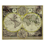 17th Century Old World Map - Antique Travel Artwor Poster