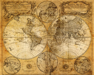 Old world maps posters zazzle 17th century old world map poster print gumiabroncs Images