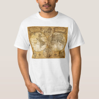 17th century Old World Map T Shirt