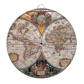 17th Century original World Map1600s Dart Board