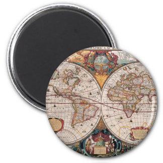 17th Century original World Map1600s Magnet