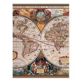 Th Century Maps Postcards Zazzle - 17th century world map