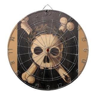 17th Century Skull and Crossbones Dartboard With Darts