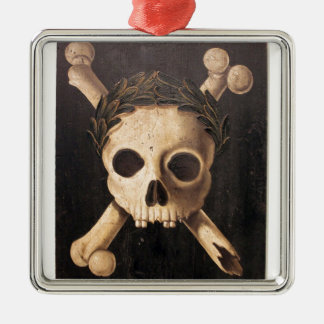 17th Century Skull and Crossbones Metal Ornament