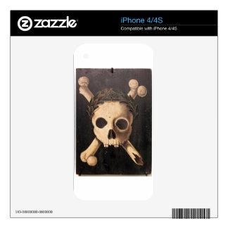17th Century Skull and Crossbones iPhone 4 Decals