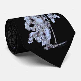17th century soldier print neck tie