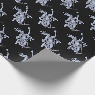 17th century soldier print wrapping paper