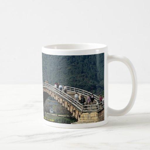 17th century stone and wood Kintai Bridge, Japan Mug