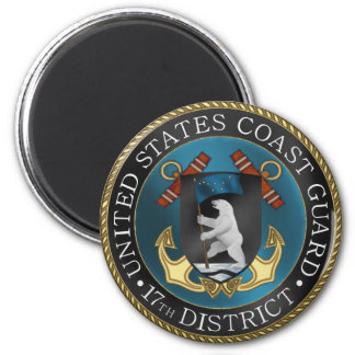 17th District USCG 2 Inch Round Magnet