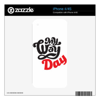 17th February - My Way Day - Appreciation Day Skins For The iPhone 4S