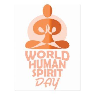 17th February - World Human Spirit Day Postcard