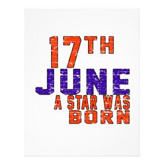 17th June a star was born Letterhead