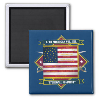 17th Michigan Volunteer Infantry Shirts 2 Inch Square Magnet