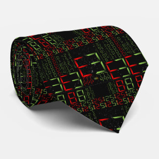 17th Pattern; Digital Numbers - Matrix Style Neck Tie