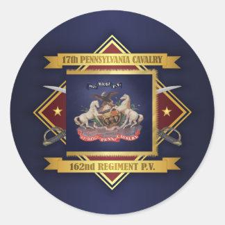 17th Pennsylvania Cavalry Classic Round Sticker