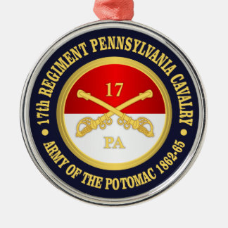 17th Pennsylvania Cavalry Metal Ornament