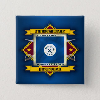 17th Tennessee Infantry (v5) Pinback Button