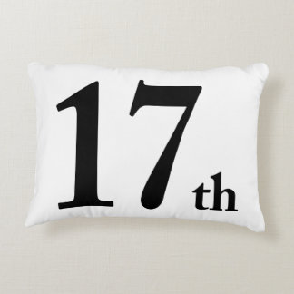 17th This number is for birthdays or anything else Decorative Pillow