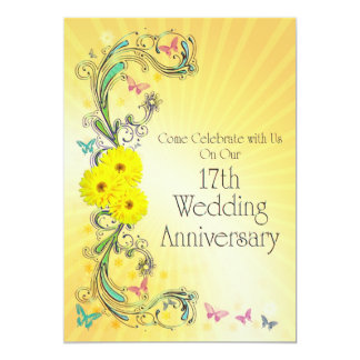 17th Wedding Anniversay Party Invitation