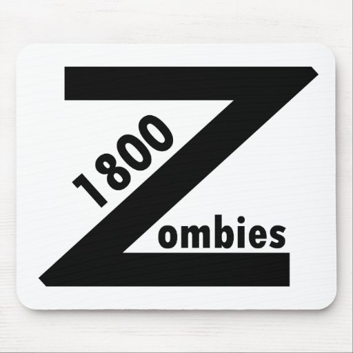 1800 zombis alfombrilla de ratones