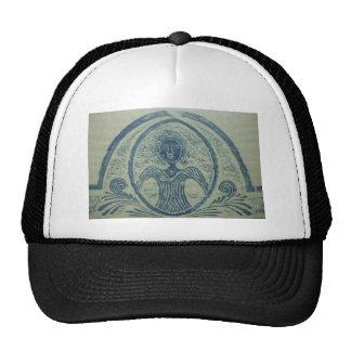 1800s Blue Lady American Grave Rubbing Design Hat