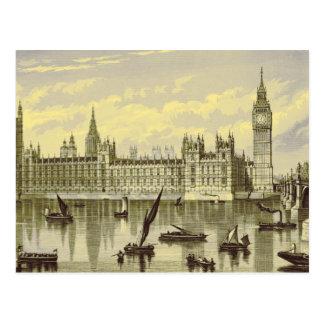 1800s de Big Ben Thames Westminster del parlamento Tarjetas Postales
