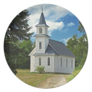 1800s de la iglesia presbiteriana de la orilla plato de cena