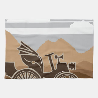 1800s del vector del coche del vintage toallas