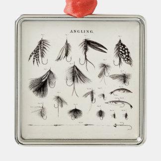 1800s del vintage que pescan los ganchos del señue ornamentos de reyes