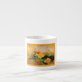 1800s Japanese Birds/Flowers of the Four Seasons Espresso Cup