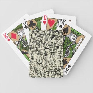 1800s japoneses del collage del vintage de los beb baraja cartas de poker