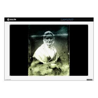 1800s Old Woman Portrait Laptop Decal