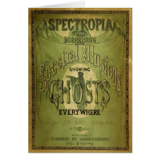 1800s Spectropia - A Study of Ghosts Card