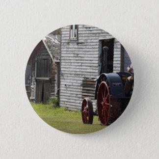 1800's Steam Tractor Pinback Button