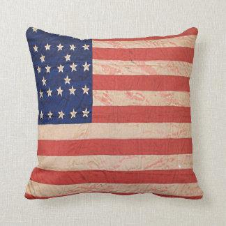 1800's USA Civil War Flag Throw Pillow