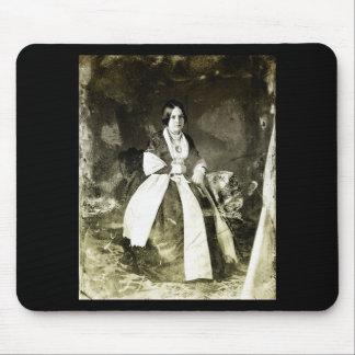 1800s Victorian Woman Portrait Mouse Pad