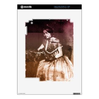 1800s Victorian Woman Portrait Skins For iPad 2