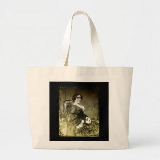 1800s Victorian Woman Sitting Canvas Bag